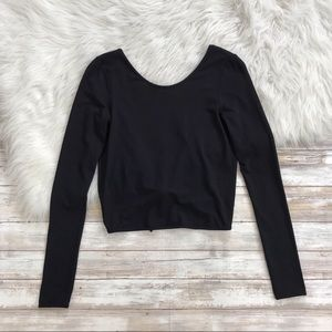 Aritzia Tops - Wilfred Free Black Taja Back Tie T-Shirt